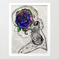 Lady Rose & Lace Art Print