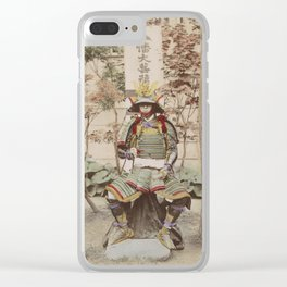 Japanese Warrior Vintage Photo Clear iPhone Case