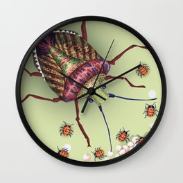 The Stink Bugs Are Coming! Wall Clock