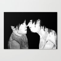 larry Canvas Prints featuring Larry by Vidility