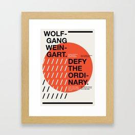 Wolfgang Weingart Framed Art Print