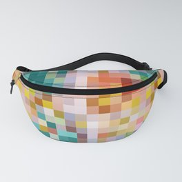 Flower pot - abstract mosaic background with colorful squares Fanny Pack
