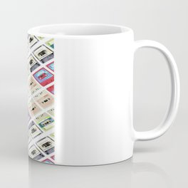1980s hip hop pop culture colorful pattern cassette tape Coffee Mug