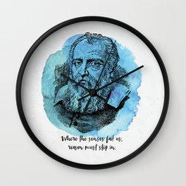 Galileo Galilei - Science Portrait - Reason Must Step In Wall Clock
