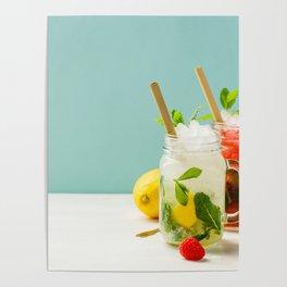 summer cocktails Poster