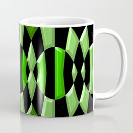 The Green Thang - Abstract Green and Black Retro Design Coffee Mug