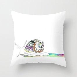 Psychic Snail Throw Pillow