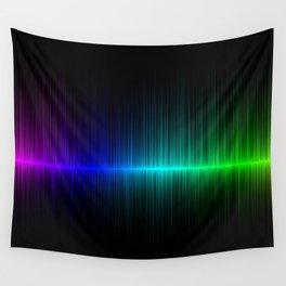 Rainbow Radio Waves Digital Illustration - Artwork Wall Tapestry