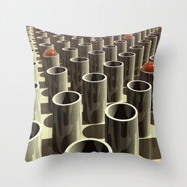 Stockyard of Cylinders Throw Pillow