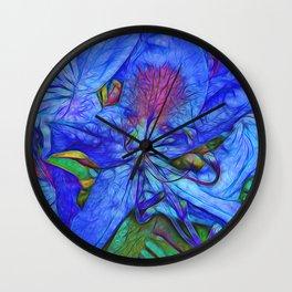 Rhododendron Aqua Wall Clock