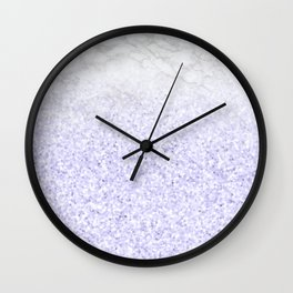 She Sparkles - Pastel Purple Glitter Marble Wall Clock