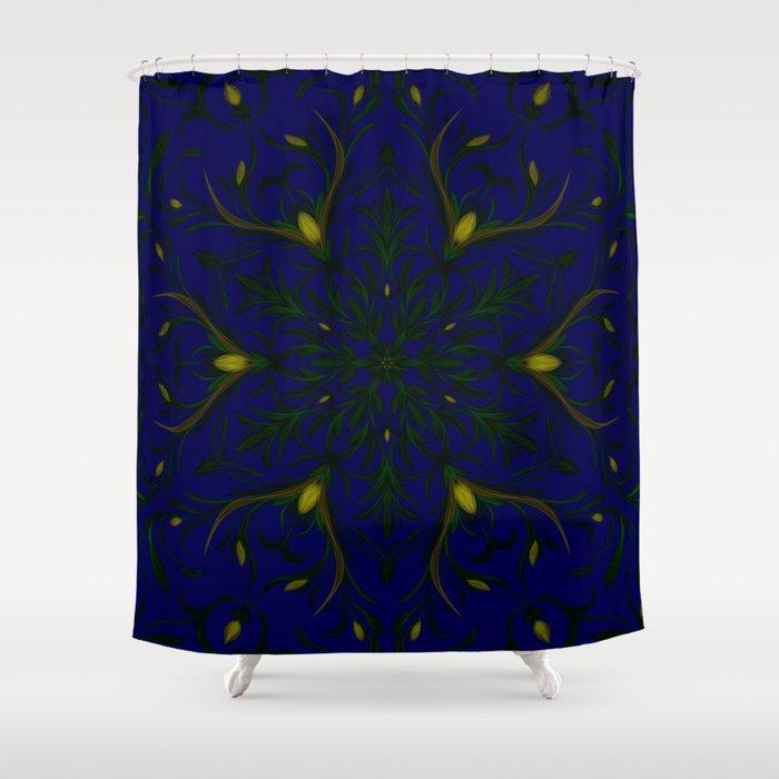 Sea of Shining Seaweed Shower Curtain