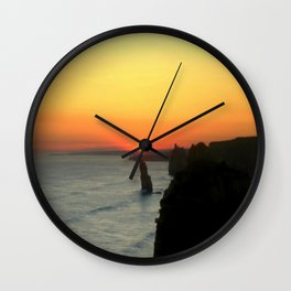 Sunsetting over the Great Southern Ocean Wall Clock