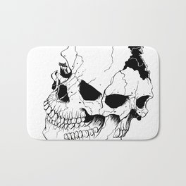 Skull (Fragmented and Conjoined) Bath Mat