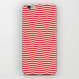 Australian Flag Red and White Wavy Chevron Stripe iPhone Skin