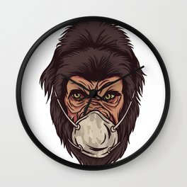 Gorilla Face Wall Clock