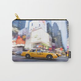 Yellow taxi cab in times square Carry-All Pouch
