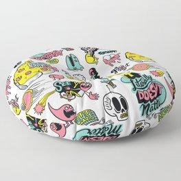 Weirdo Pizza Donut Sword Skull Pattern Floor Pillow