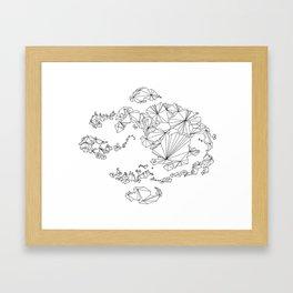 Avatar the Last Airbender: Map (Line) Framed Art Print