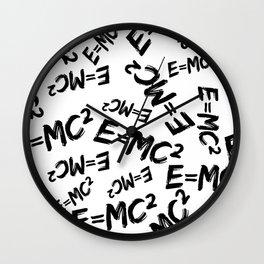 Special Relativity pattern Wall Clock