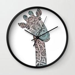Giraffe in Pastel Colours Wall Clock