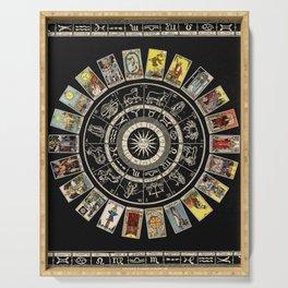 The Major Arcana & The Wheel of the Zodiac Serving Tray