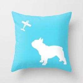 French Bull dog art Throw Pillow