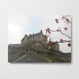 Edinburgh Castle, End of Autumn Metal Print
