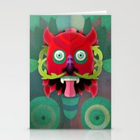 diablo Stationery Cards featuring Diablo by Blanca Limón