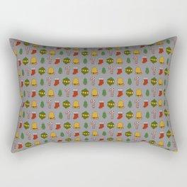 Christmas Cookies (Gray) Rectangular Pillow