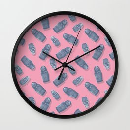 Matryoshka Pink Wall Clock