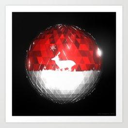Deer Bauble: Frame 103 Art Print