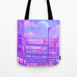 Cosmic City Train Tote Bag