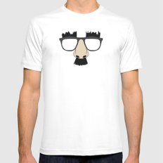 Silly Glasses White MEDIUM Mens Fitted Tee