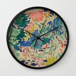 Landscape at Collioure by Henri Matisse Wall Clock