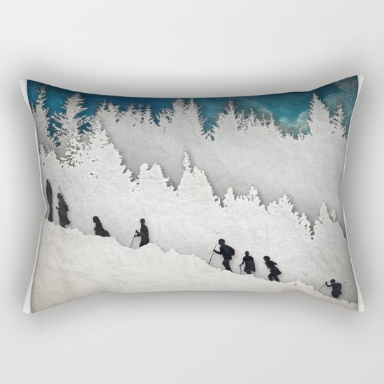 A Snowy Hike II Rectangular Pillow