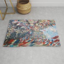 Claude Monet - La Rue Montorgueil Rug