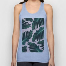 Tropical Blush Banana Leaves Dream #1 #decor #art #society6 Unisex Tank Top
