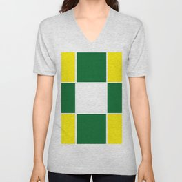 Team Colors 3 .... yellow ,green Unisex V-Neck