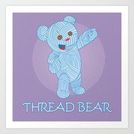 Thread-bear Art Print