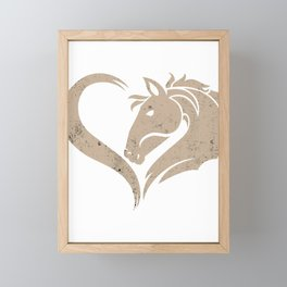 Horse Love Yearling Pony Foal Stallion  Colt Gift  Framed Mini Art Print