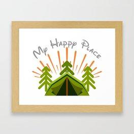 My Happy Place Framed Art Print