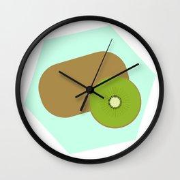 Kiwi Background Wall Clock