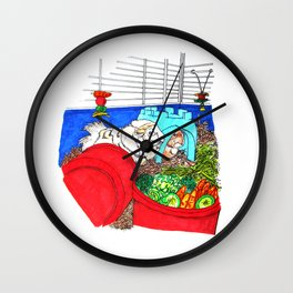 Guinea Pigs In A Cage Wall Clock
