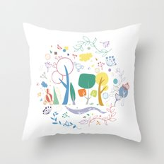 Spring pattern1 Throw Pillow