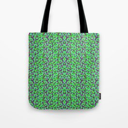 PURPLE AND GREEN MINI RECTANGLES Tote Bag