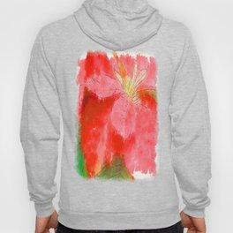 Mottled Red Poinsettia 1 Ephemeral Serene Hoody