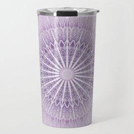 Lavender Geometric Mandala Travel Mug
