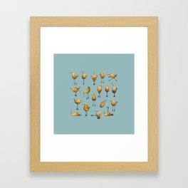 Naughty Birds and a Potato Framed Art Print