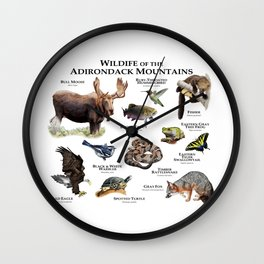 Animals of the Adirondacks Wall Clock